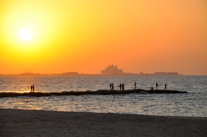 sunset-at-beach-dubai-united-arab-emirates-uae